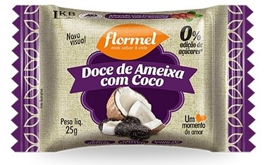 Doce de Ameixa com Coco Zero Açúcar Flormel 25g