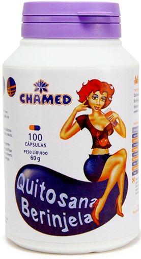 Quitosana com Berinjela Chamed 550 mg 100 Cápsulas