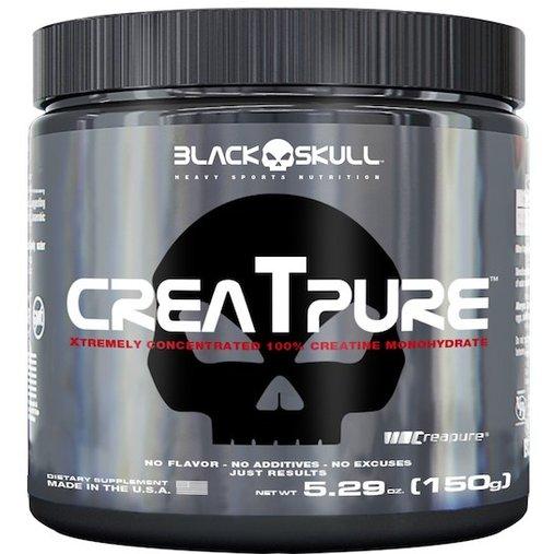 Creatpure Creatina Creapure Natural Black Skull 150g