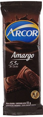 Chocolate Amargo 53% Cacau Arcor 55g