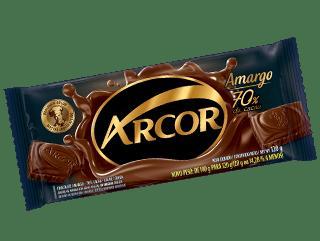 Chocolate Amargo 70% Cacau Arcor 120g