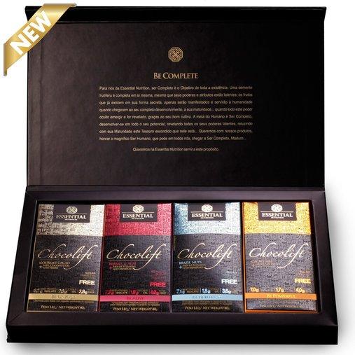Chocolift Be Complete Caixa 8 Barras Essential Nutrition 320g
