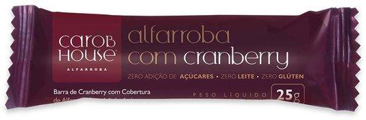 Alfarroba com Cranberry Zero açúcar Sem Glúten e Lactose Carob House 25g
