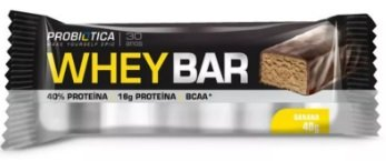 Whey Bar Low Carb Banana Probiótica 40g