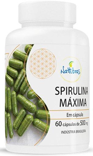 Spirulina Maxima 500mg Nattubras 60 Cápsulas