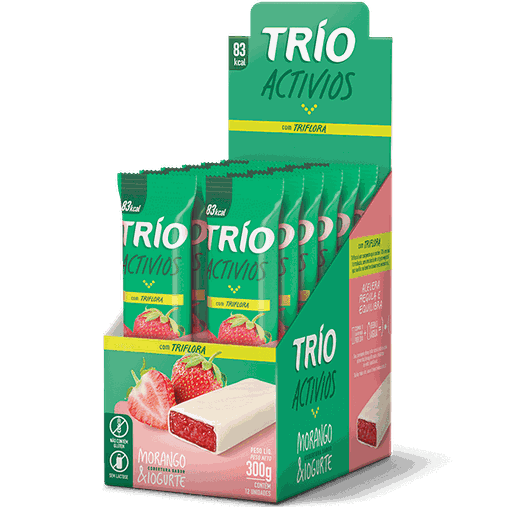 Trio Activios Morango com Iogurte Trio 12 und x 25g