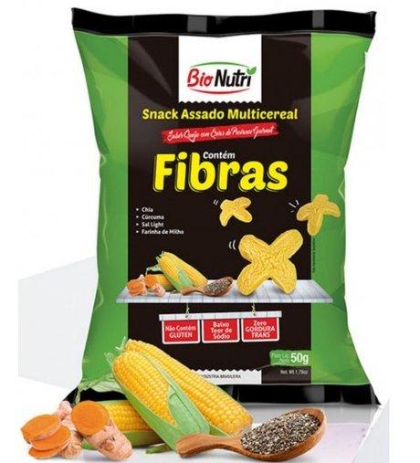 Snack Multicereais Fibras Queijo e Ervas Bio Nutri 50g