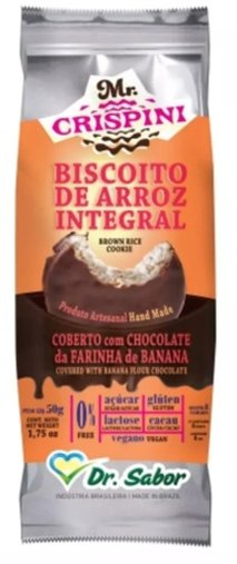 Biscoito de Arroz Integral com Chocolate da Farinha de Banana Verde Dr Sabor 50g