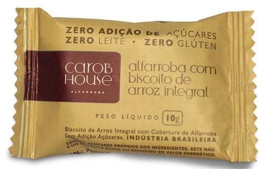 Alfarroba com Biscoito de Arroz Integral Zero Açúcar Sem Glúten e Lactose Carob