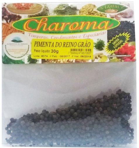 Pimenta do Reino Grãos Charoma 30g