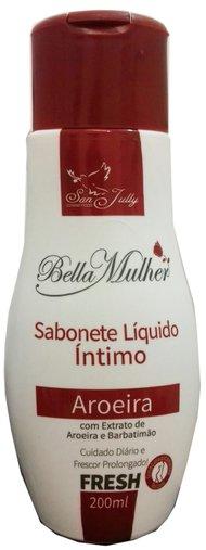 Sabonete Líquido Íntimo Aroeira com Extrato de Aroeira e Barbatimão San Jully 200mL