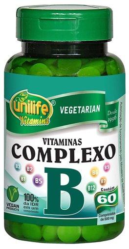 Complexo B 500mg Unilife 60 Cápsulas