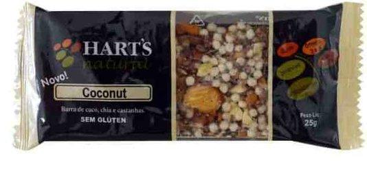 Barra Harts Natural Coconut coco chia e castanha 25g