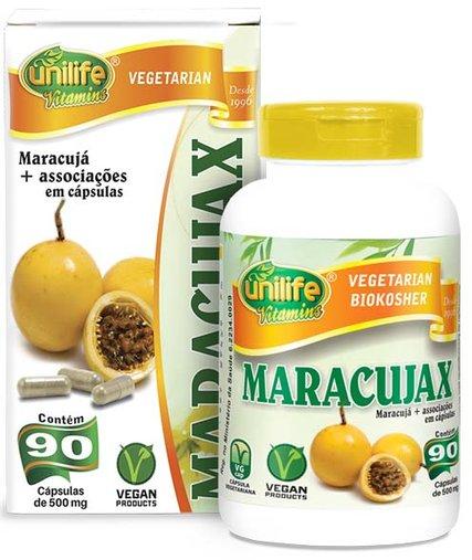Maracujax Calmante Natural de Maracujá 500mg Unilife 90 Cápsulas