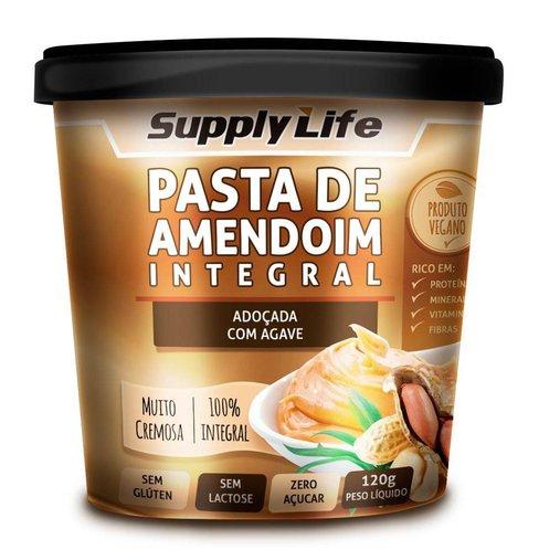 Pasta de Amendoim Integral com Agave Supply Life 120g