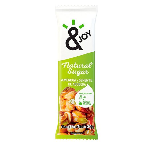 Barra & Joy Natural Sugar Amêndoa e Abóbora Agtal 30g