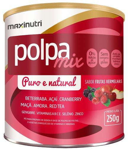 Polpa Mix Detox Frutas Vermelhas Maxinutri 250gr