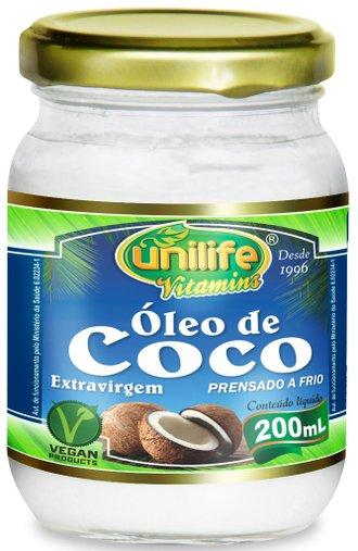 Óleo de Coco Extra Virgem Unilife 200mL