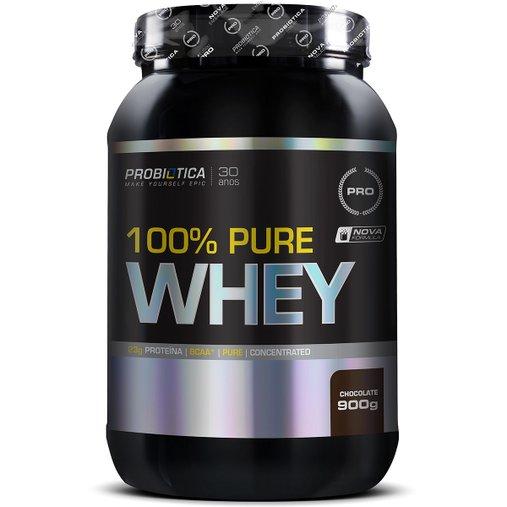 100% Pure Whey Protein Chocolate Probiótica 900g