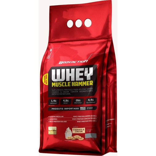 Whey Muscle Hammer Cookies e Cream Body Action Refil 900g