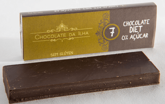 Barra de Chocolate Diet Sem Glúten Sem Lactose Chocolate da Ilha 27g