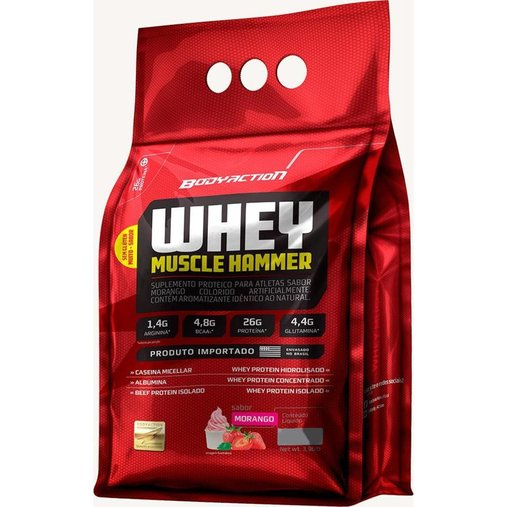 Whey Muscle Hammer Morango Body Action 1,8 kg