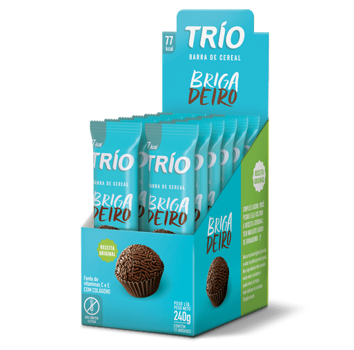 Barra de Cereal Trio Light Brigadeiro Trio 12 und x 20g