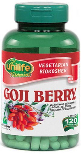 Goji Berry 500mg Unilife 120 Cápsulas