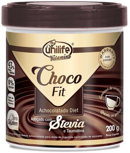 Choco Fit Achocolatado Diet Solúvel  Unilife 200g