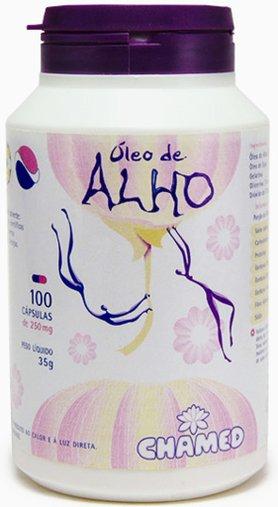 Óleo de Alho 250mg Chamed 100 Cápsulas