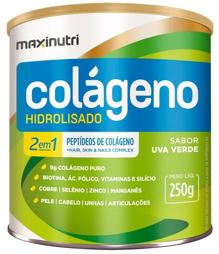 Colágeno Hidrolisado 2 em 1 Uva Verde Maxinutri 250g