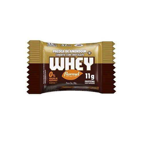Paçoca com Whey com Chocolate Zero Flormel 30g