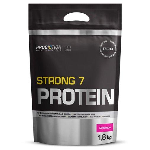 Strong 7 Protein Morango Probiótica 1,8 Kg