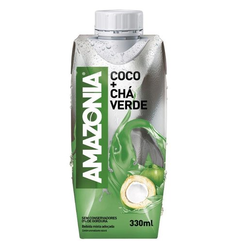 Água de Coco com Chá Verde Amazonia 330mL