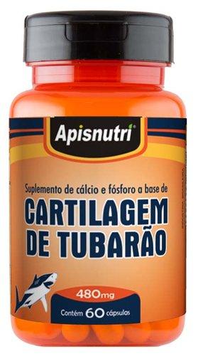 Cartilagem de Tubarão Apisnutri 480mg 60 Cápsulas