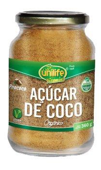 Açúcar de Coco Orgânico Unilife 360g