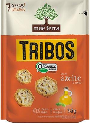 Biscoito Tribos Azeite e Ervas Orgânico Mãe Terra 50g
