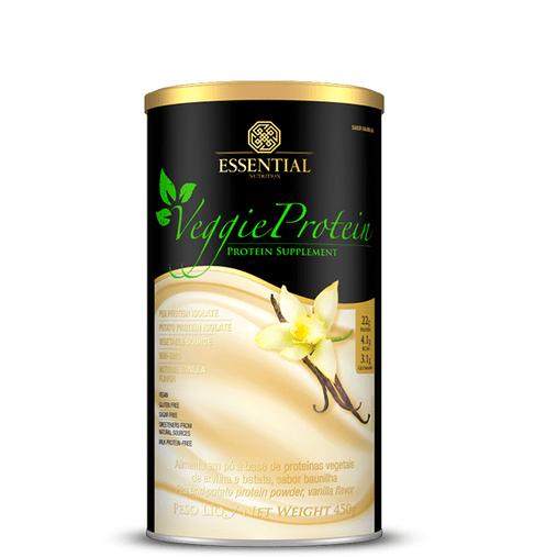 Veggie Protein Vanilla Proteína 100% Vegetal Essential Nutrition 450g