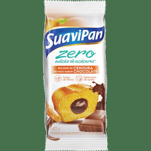 Bolinho Zero Açúcar sabor Cenoura com Recheio de Chocolate Suavipan 40g