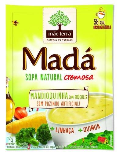 Sopa Madá Mandioquinha com brócolis Mãe Terra 17g