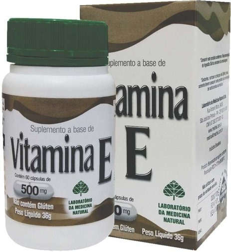 Vitamina E Medinal 500 mg 60 Cápsulas