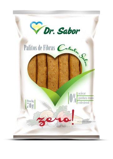 Biscoito Palito de Fibras Sabor Cebola e Salsa Dr Sabor 70g