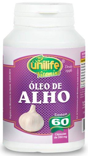 Óleo de Alho 330mg Unilife 60 cápsulas