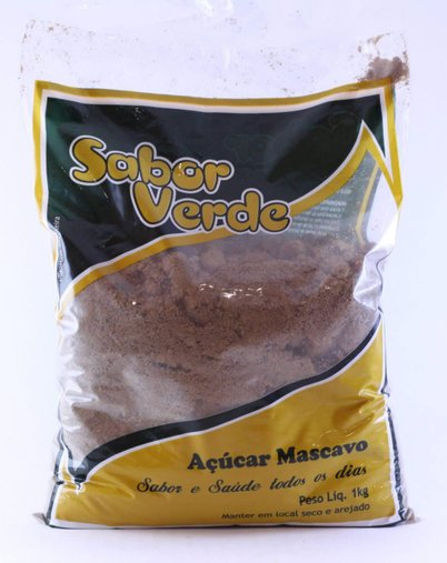 Açúcar Mascavo Sabor Verde 1kg
