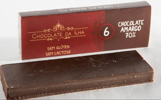 Barra de Chocolate 70% Sem Glúten Sem Lactose Chocolate da Ilha 27g
