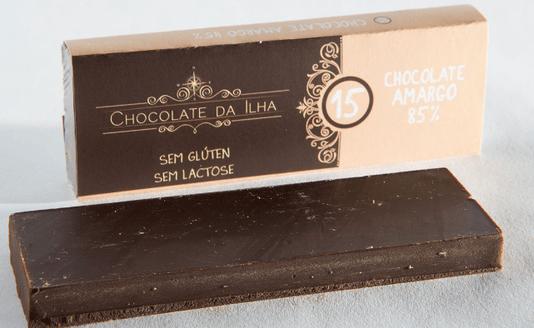 Barra de Chocolate 85% Sem Gluten Sem Lactose Chocolate da Ilha 27g