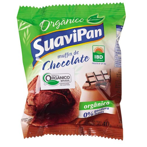 Muffin sabor Chocolate Orgânico Suavipan 40g