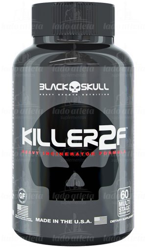 Killer 2F Thermogenic Black Skull 210mg 60 Cápsula