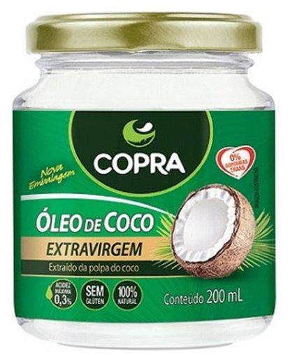 Óleo de Coco Extra Virgem Acidez Máxima 0,3% Copra 200mL
