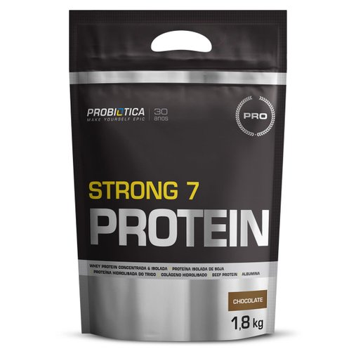 Strong 7 Protein Chocolate Probiótica 1,8 Kg